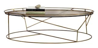 thicket oval coffee table contemporary industrial coffee