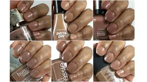 nail polishes on brown skin youtube