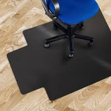 Chair Casters For Laminate Floors Amazon Com Office Marshal Black Polycarbonate Office Chair Mat