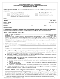 free oklahoma standard residential lease agreement template word