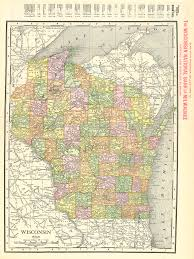 Wisconsin Topographic Map by Maps Antique United States Us States Wisconsin