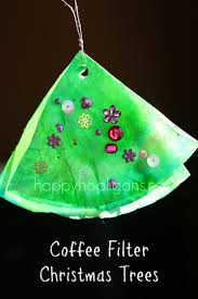 coffee filter tree ornaments happy hooligans