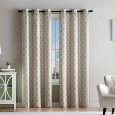 Geometric Curtains  Drapes Youll Love Wayfair - Living room curtains design