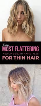 ways to style chin length thin hair 40 most flattering medium length hairstyles for thin hair style