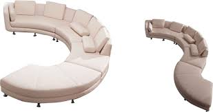 Sectional Sofa White Curved Sectional Sofa From Opulent Items Ihso00534