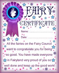 printable fairy certificate well done for being good rooftop