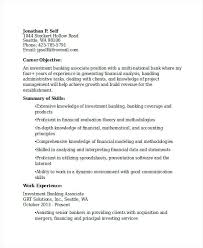 investment banking resume template bank resume template investment banking associate bank resume
