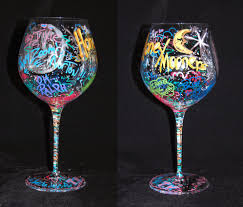 wine glass art glass art
