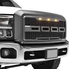 Ford Raptor Grill Lights - paramount 41 0160 raptor style charcoal gray packaged honeycomb