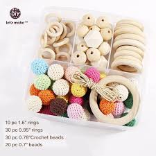 buy wood rings images Let 39 s make natural wooden teether wood rings and crochet beads diy jpg