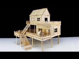 make house how to make popsicle stick house for rat youtube