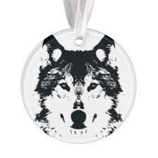 black wolf ornaments keepsake ornaments zazzle