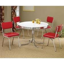 Retro Dining Table And Chairs Retro Dining Table Chrome Metal 50s Kitchen Dinette