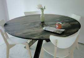 round reclaimed wood pub table home table decoration