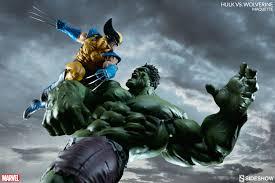 sideshow unveils hulk wolverine maquette bleeding cool