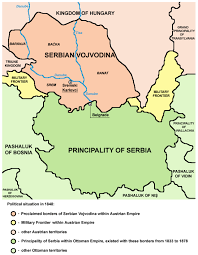 Ottoman Empire Serbia Principality And Habsburg Serbia In 1848 Vojvodina03 Png And