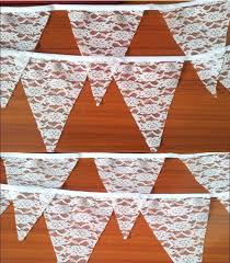 wedding backdrop sign aliexpress buy 3 meters white lace fabric bunting backdrop