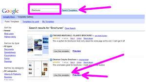 google docs templates brochure brochure templates google docs