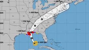 louisiana florida map hurricane nate path track map of la fl ms al heavy
