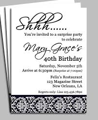 surprise 40th birthday party invitations best 20 50th birthday