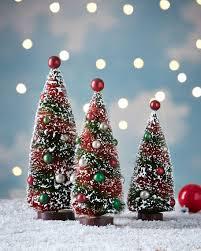 primitive christmas tree bethany lowe primitive christmas bottle brush trees 3 set