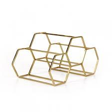 pico 3 stackable wine rack copper honeycomb wine bottle store
