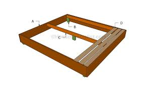 King Size Bed Frame Diy King Size Bed Frame Plans Howtospecialist How To Build Step