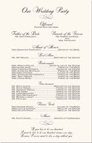 order of ceremony for wedding program wedding ceremony order fototails me