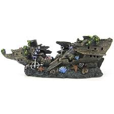 penn plax split shipwreck aquarium ornament aquarium ships wrecks
