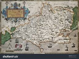 Map Of England And Wales Dorset Old Map Atlas England Wales Stock Photo 77962510 Shutterstock