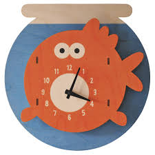decorative clock goldfish wall clock kids wall clocks lum kid s lighting