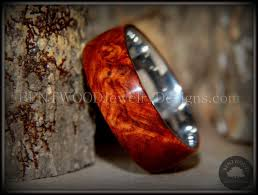 wooden metal rings images Bentwood amboyna burl wood ring titanium steel comfort fit metal jpg
