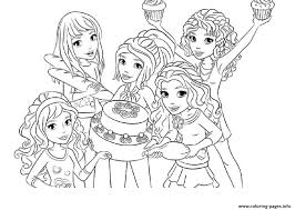 lego friends food coloring pages printable