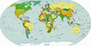 map continents political world map world map continents countries and
