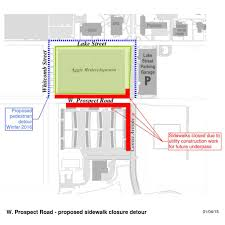 Colorado State University Campus Map by Sidewalk Detours Around Prospect Underpass Project Source