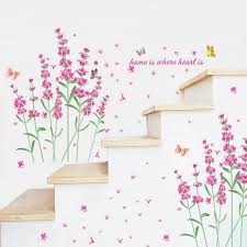 romantic diy nature flowers butterfly wall stickers home is where romantic diy nature flowers butterfly wall stickers home is where heart is quotes 3d wall decals floral tv decoration home decor flower wall stickers