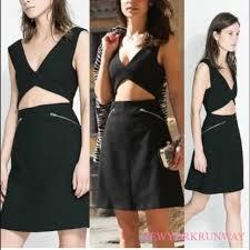black cut out dress 73 zara dresses skirts studio zara black cut out dress