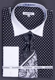 sku nad42 100 cotton french cuff dress shirt tie hanky u0026 cuff
