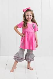 ruffle girl sleeve ruffle sets tagged pink ruffle girl