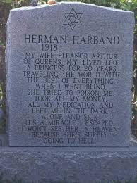 grave tombstone husband s honest tombstone trashes his mandatory