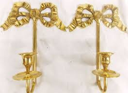 Wall Sconces Candles Holder Vtg Pair 9