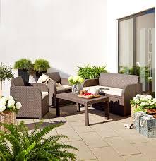 Jysk Patio Furniture Lounge Set Ebeltoft Rattan Effect Jysk