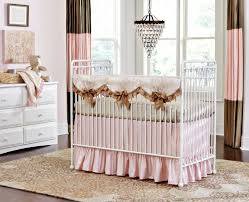 blush and gold crib bedding pine creek bedding