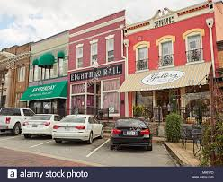 small town america small quaint shops with fancy storefronts in small town america line