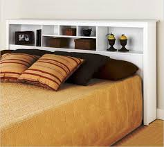 White Bookshelf Headboard by Modern Bookcase Headboard Storage