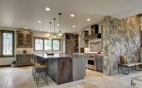 wand ideen moderne küche ideen mit stein wand interieur und möbel ideen