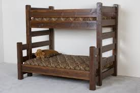 Cabin Bunk Bed Barnwood Bunk Bed Solid Built Bunkbeds Cabin Bunk Beds
