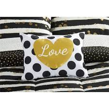 43 Best Bed In A by Latitude Gold Glitter Stripe And Polka Dot Bed In A Bag Bedding
