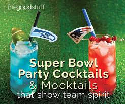 super bowl party cocktails u0026 mocktails that show team spirit
