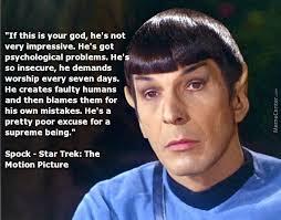 Meme Not Impressed - spock is not impressed written by gene roddenberry for star trek